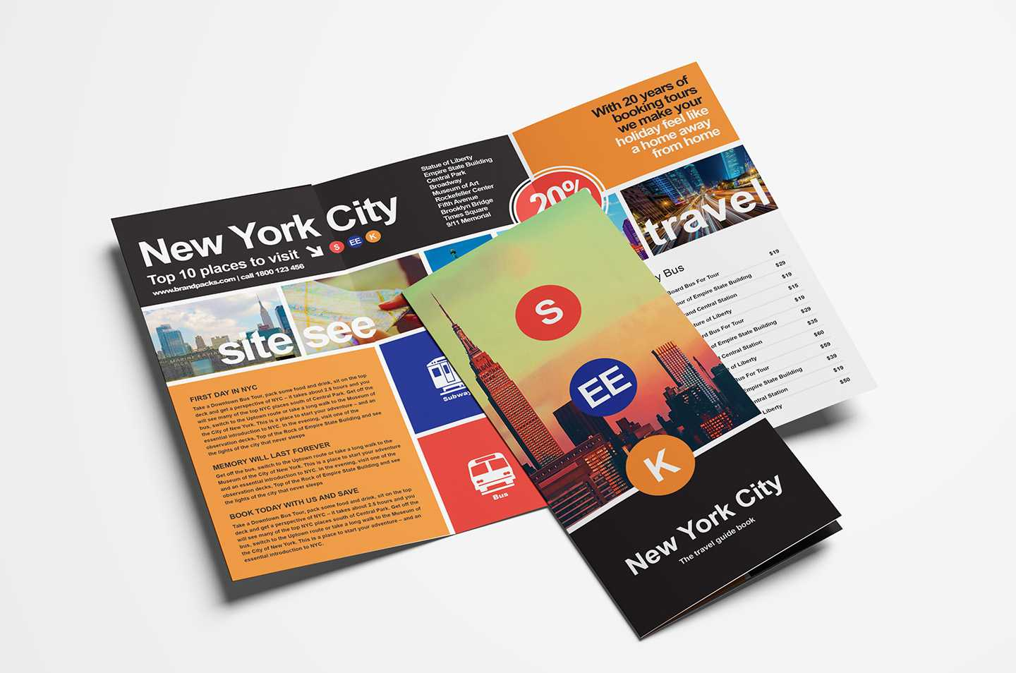 Free Travel Trifold Brochure Template For Photoshop Intended For Travel Guide Brochure Template
