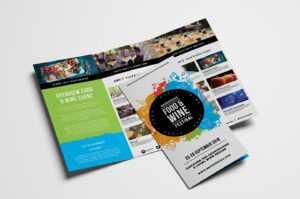 Free Tri-Fold Brochure Template For Events & Festivals – Psd in Tri Fold Brochure Template Illustrator Free
