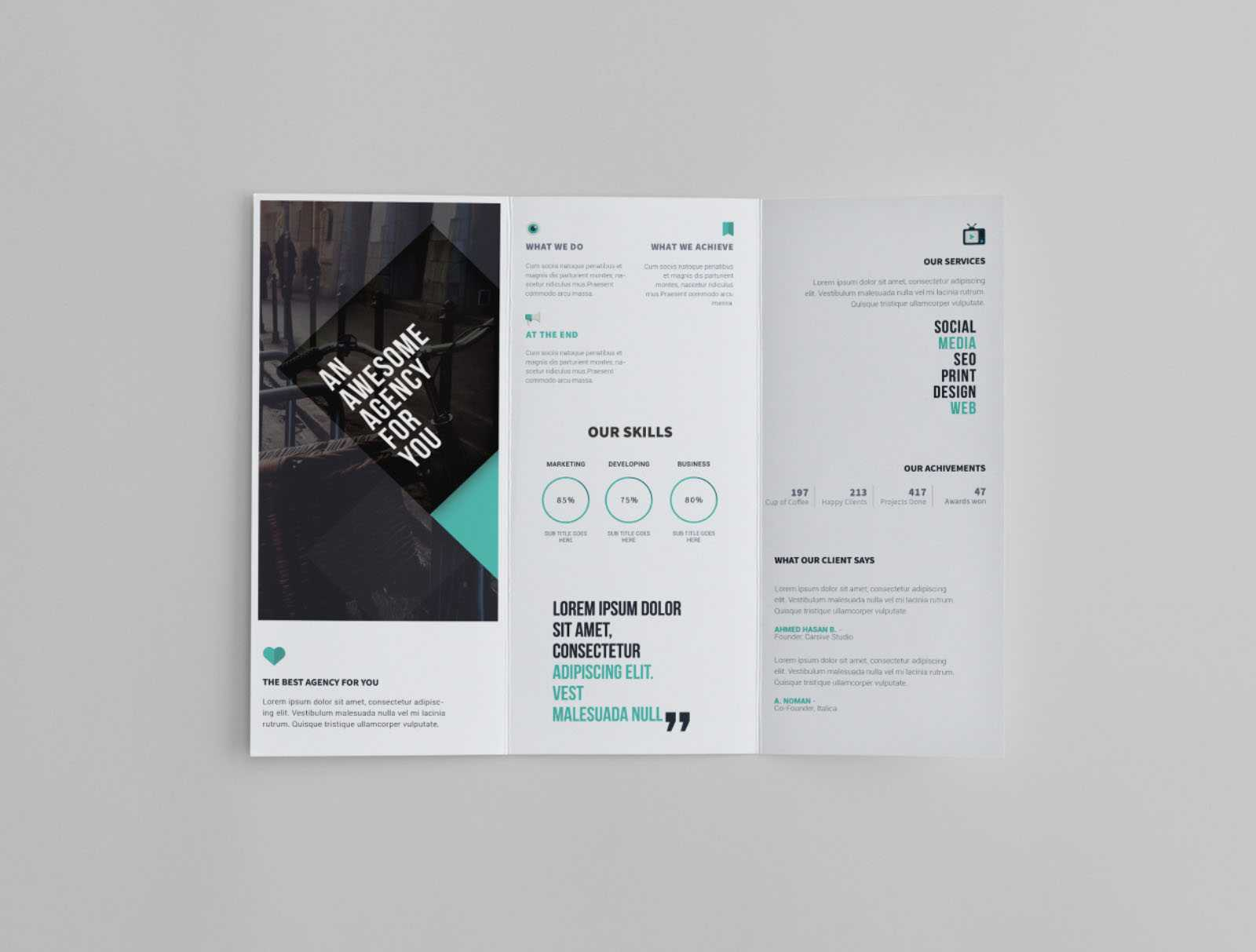 Free Trifold Brochure Template Throughout Tri Fold Brochure Template Indesign Free Download