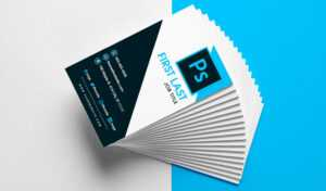 Free Vertical Business Card Template In Psd Format for Psd Name Card Template