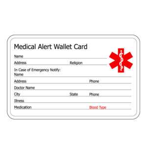 Free Wallet Size Medication Cards | Ahoy Comics within Medical Alert Wallet Card Template