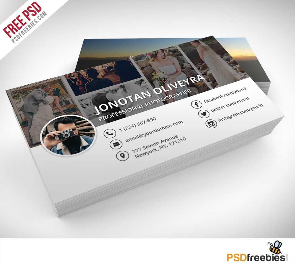 Freebie : Professional Photographer Business Card Psd On Behance Inside Photography Business Card Template Photoshop