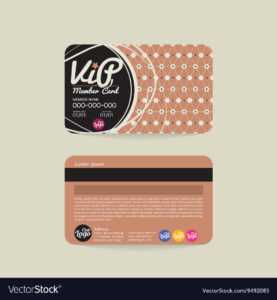 Front And Back Vip Member Card Template for Membership Card Template Free