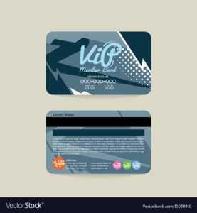 Front And Back Vip Member Card Template regarding Membership Card Template Free