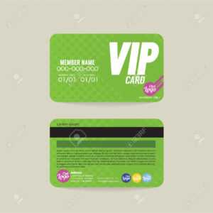 Front And Back Vip Member Card Template Vector Illustration for Membership Card Template Free