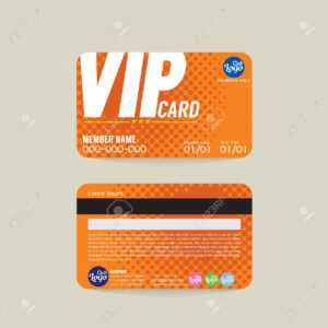 Front And Back Vip Member Card Template Vector Illustration inside Membership Card Template Free