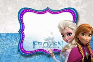 Frozen Birthday Party Invitation Free Printable inside Frozen Birthday Card Template
