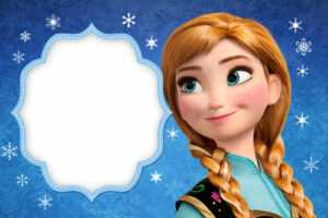Frozen: Free Printable Cards Or Party Invitations. – Oh My for Frozen Birthday Card Template