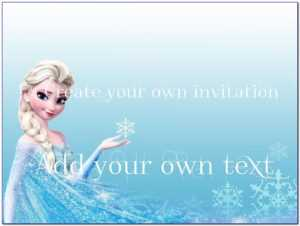 Frozen Invitation Templates Free | Marseillevitrollesrugby in Frozen Birthday Card Template