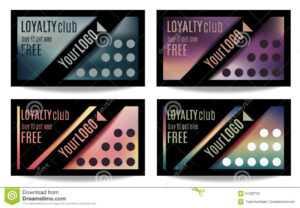 Fun Customer Loyalty Card Templates Stock Vector in Customer Loyalty Card Template Free