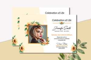 Funeral Announcement Invitation Card Template in Funeral Invitation Card Template