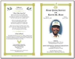 Funeral Invitation Template Word | Marseillevitrollesrugby regarding Memorial Brochure Template