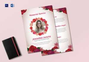 Funeral Memorial Service Program Template with Memorial Card Template Word