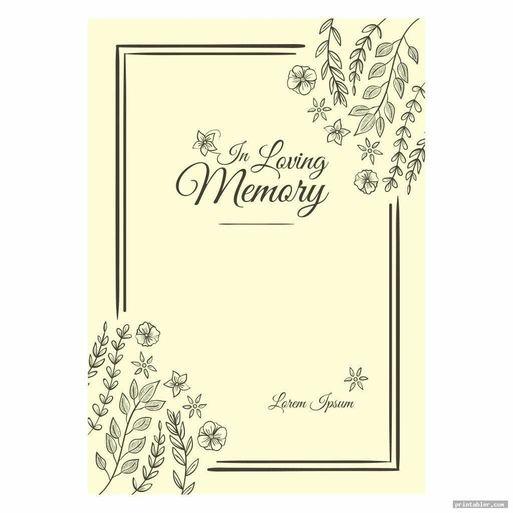 Funeral Memory Cards Templates Printable - Printabler Inside In Memory Cards Templates