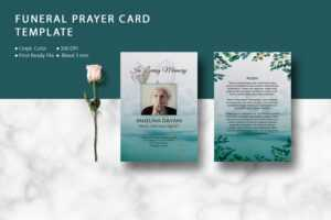 Funeral Prayer Card Template, Ms Word & Photoshop Template inside Prayer Card Template For Word