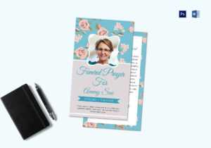 Funeral Request Prayer Card Template regarding Prayer Card Template For Word