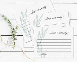 Funeral Share A Memory Card Printable Template Share A Memory Cards  Greenery Celebration Of Life Memorial Service Remembrance Keepsake Card in In Memory Cards Templates