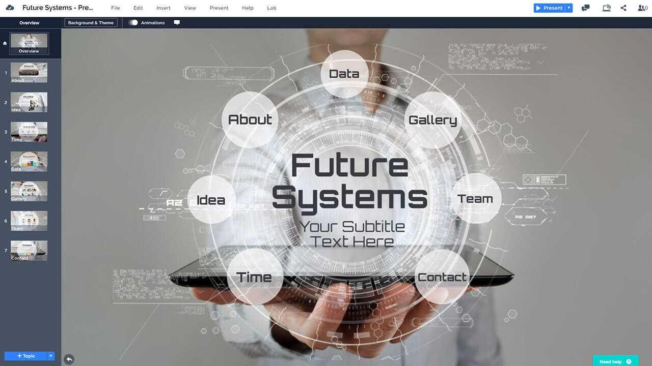 Future Technology Presentation Template | Prezibase In Powerpoint Templates For Technology Presentations