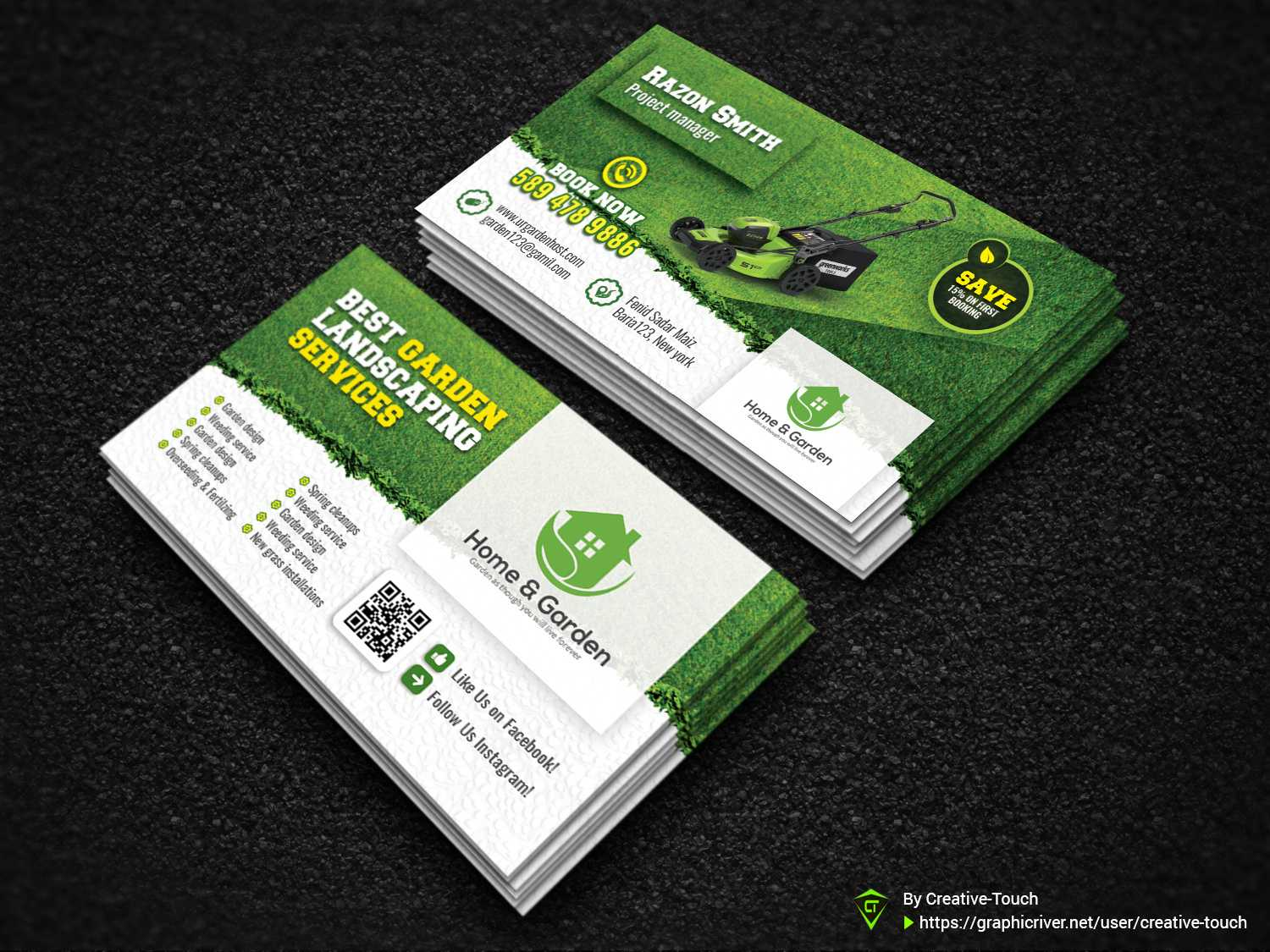 Garden Business Cardcreative Touch On Dribbble In Gardening Business Cards Templates
