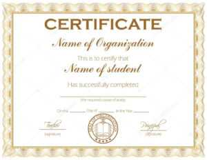 General Purpose Certificate Or Award — Stock Vector © Zarja for Student Of The Year Award Certificate Templates