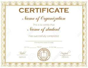 General Purpose Certificate Or Award With Sample Text That Can.. intended for Template For Certificate Of Award
