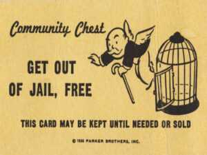 Get Out Of Jail Clipart regarding Get Out Of Jail Free Card Template