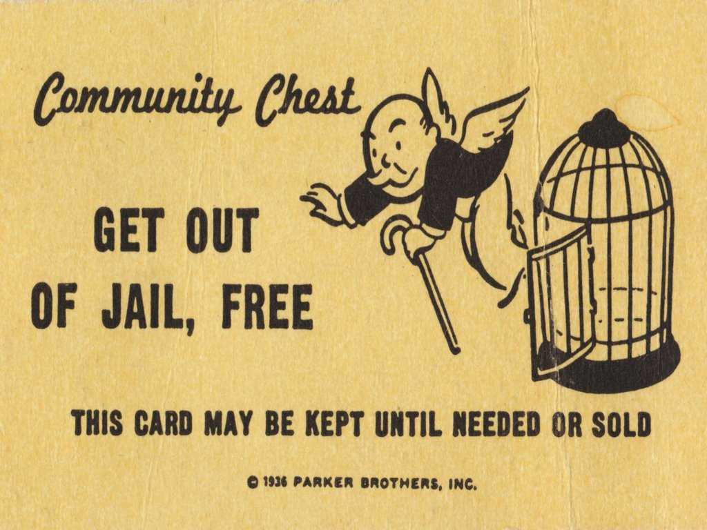 Get Out Of Jail Free Card Monopoly Blank Template - Imgflip Within Get Out Of Jail Free Card Template