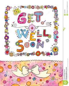 Get Well Soon Card Stock Illustration. Illustration Of with Get Well Soon Card Template