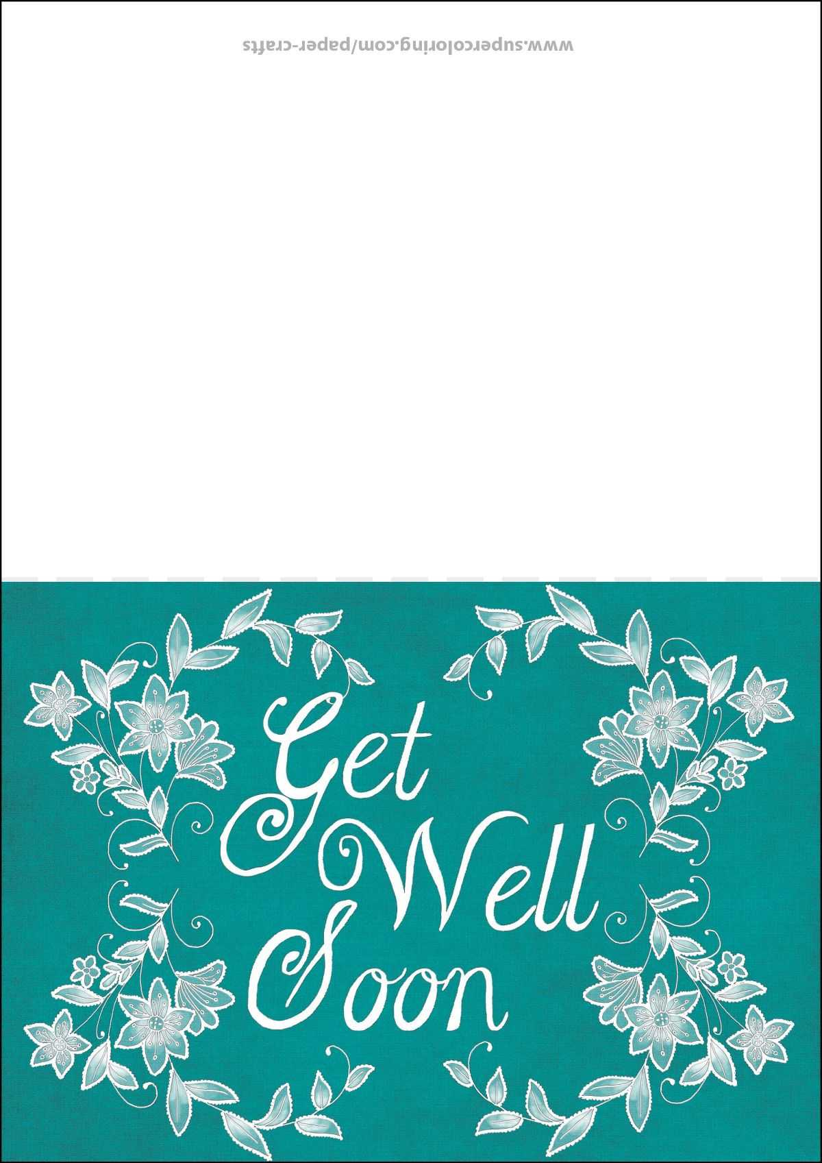 Get Well Soon Card Template | Free Printable Papercraft In Get Well Soon Card Template