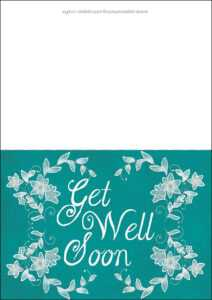 Get Well Soon Card Template | Free Printable Papercraft intended for Get Well Card Template