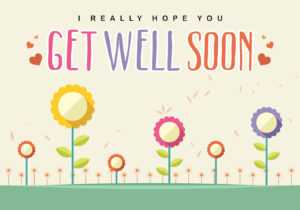 Get Well Soon Card Vector – Download Free Vectors, Clipart with regard to Get Well Card Template