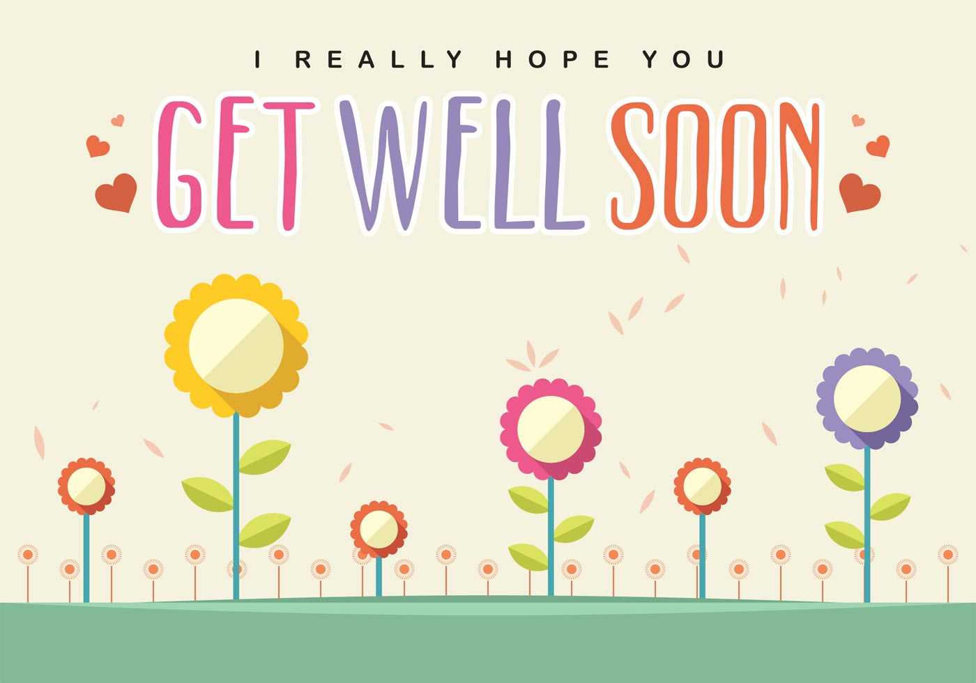 Get Well Soon Card Vector - Download Free Vectors, Clipart With Regard To Get Well Card Template