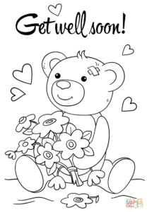 Get Well Soon Grammy Coloring Page – Prnt within Get Well Soon Card Template