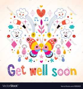 Get Well Soon Greeting Card intended for Get Well Card Template