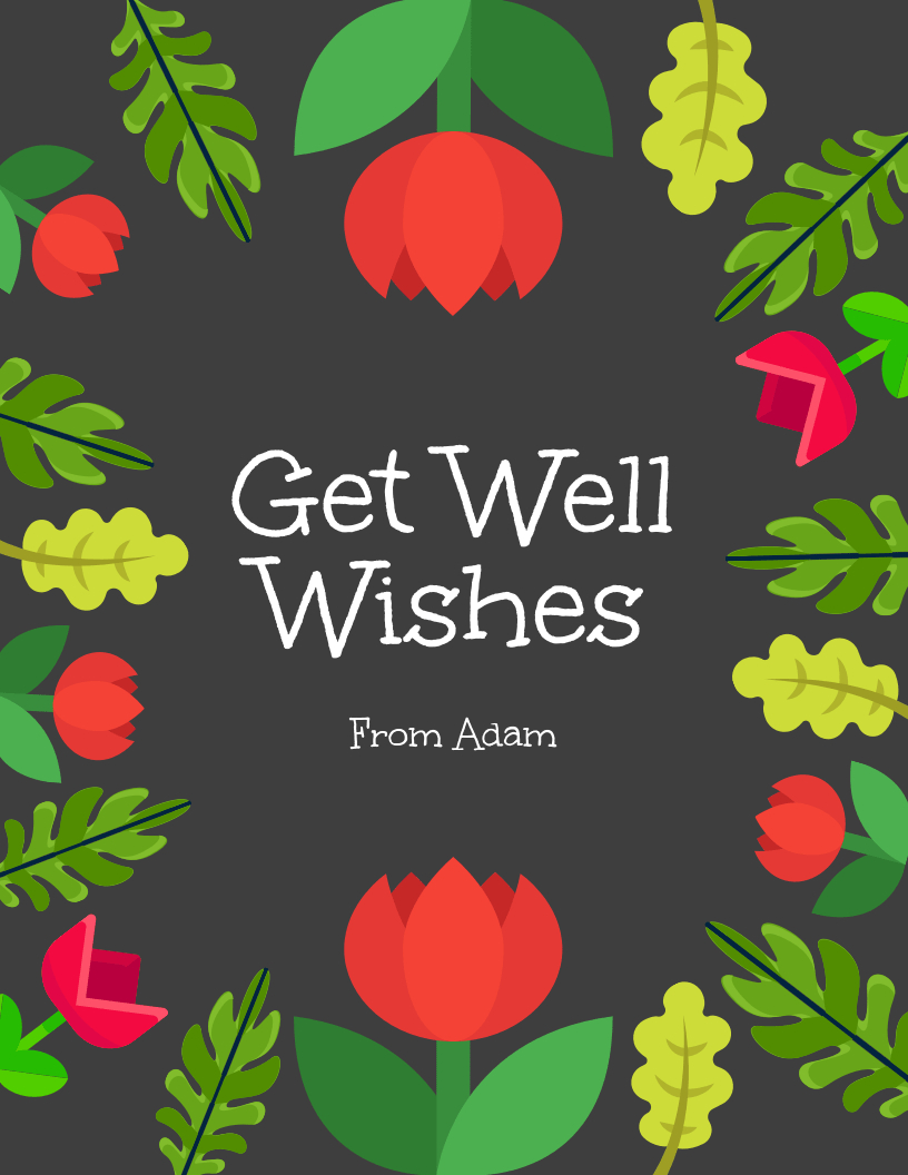 Get Well Wishes Card Within Get Well Card Template