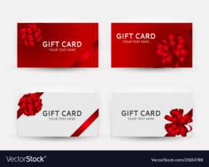 Gift Card Template Collection Set With Bow And pertaining to Gift Card Template Illustrator