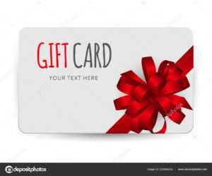 Gift Card Template With Bow And Ribbon Vector Illustration intended for Present Card Template
