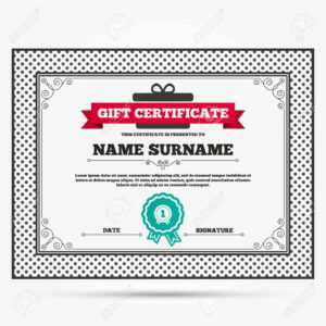 Gift Certificate. First Place Award Sign Icon. Prize For Winner.. inside First Place Certificate Template