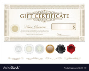 Gift Certificate Retro Vintage Template for Movie Gift Certificate Template