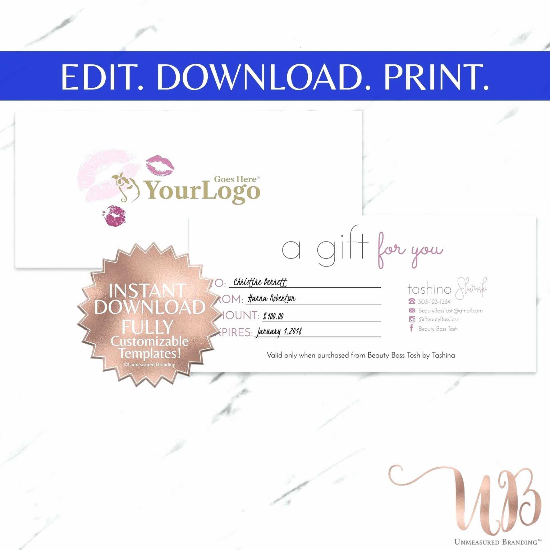 Gift Certificate Template For Hair Salon Intended For Salon Gift Certificate Template