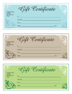 Gift Certificate Template Free Editable | Templates At for Company Gift Certificate Template