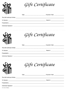 Gift Certificate Template Free – Fill Online, Printable In intended for Black And White Gift Certificate Template Free