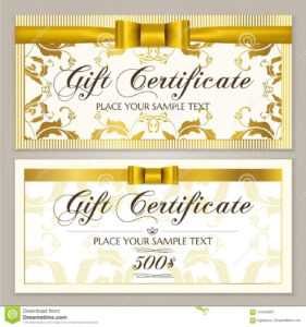 Gift Certificate Template Gift Voucher Layout, Coupon throughout Restaurant Gift Certificate Template