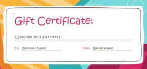 Gift Certificate Template Pages | Certificatetemplategift with Certificate Template For Pages
