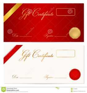 Gift Certificate (Voucher) Template. Wax Seal Stock Vector regarding Graduation Gift Certificate Template Free
