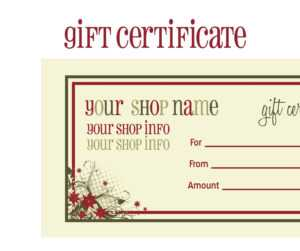 Gift Certificates For Christmas Doc 585430 Christmas Gift pertaining to Christmas Gift Certificate Template Free Download