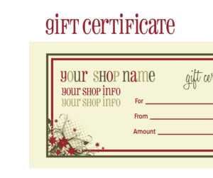Gift Certificates For Christmas Doc 585430 Christmas Gift within Printable Gift Certificates Templates Free