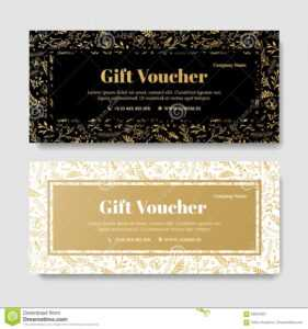 Gift Premium Voucher, Coupon Template. Stock Illustration regarding Spa Day Gift Certificate Template