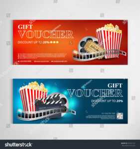 Gift Voucher Movie Template Modern Pattern Stock Vector in Movie Gift Certificate Template