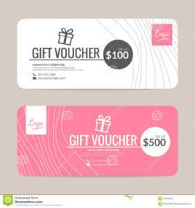 Gift Voucher Template Stock Vector. Illustration Of Offer with Custom Gift Certificate Template
